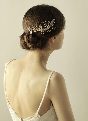 back_Floral Bridal Combs