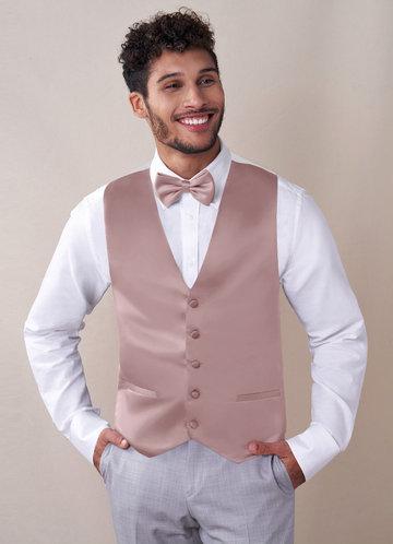 front_Gentlemen's Collection Matte Satin Vest