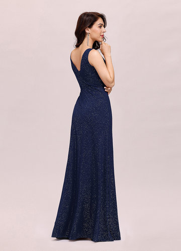 back_EVER-PRETTY Double V Neck Split Thigh Prom Dress