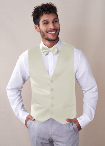 front_Gentlemen's Collection Matte Satin Vest