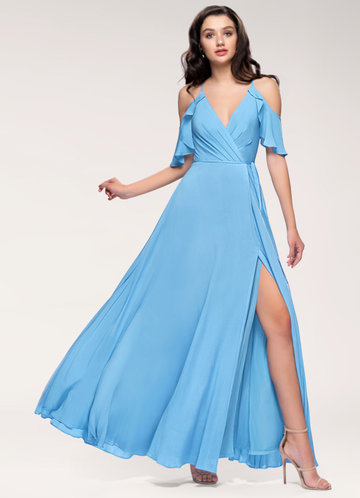 Toujours Slate Blue Maxi Dress