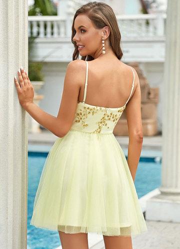 back_EVER-PRETTY Sequins Detail Mesh Cami Dress