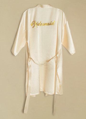 front_Bridesmaid Glitter Print Robe