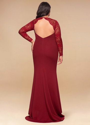 back_Blush Mark Plus Size Americano Maxi Dress
