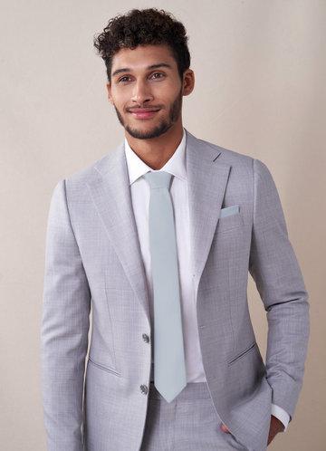 front_Gentlemen's Collection Matte Satin Skinny Tie