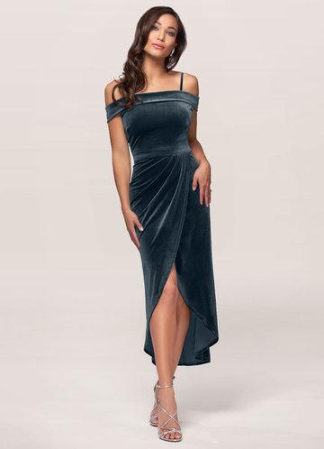 front_Blush Mark Sweet Desire {Color} Velvet Midi Dress