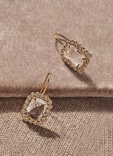 front_Emerald Cut Drop Earrings