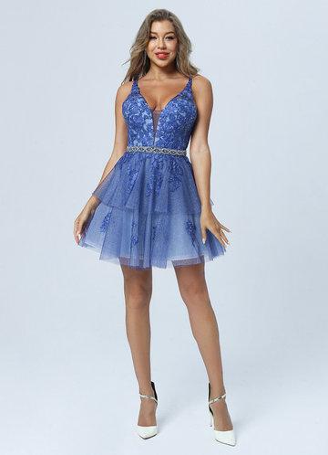 front_AZ Blue Belle Prom Dress