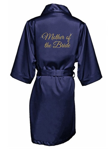 Azazie Glitter Print Mother of the Bride Satin Robe
