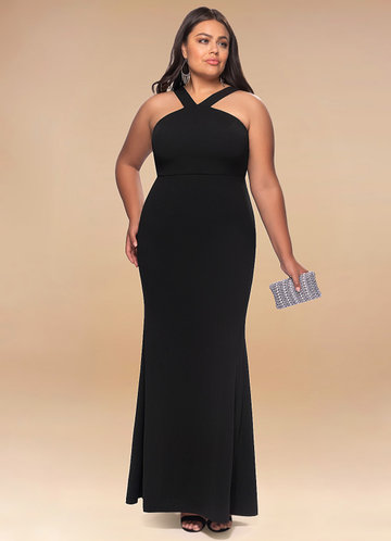 front_Blush Mark Plus Size Darling Stretch Crepe Maxi Dress
