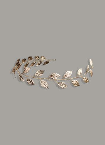 back_Gilded laurel Leaf Headband