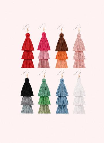 front_Splash of Color Tassel Earrings