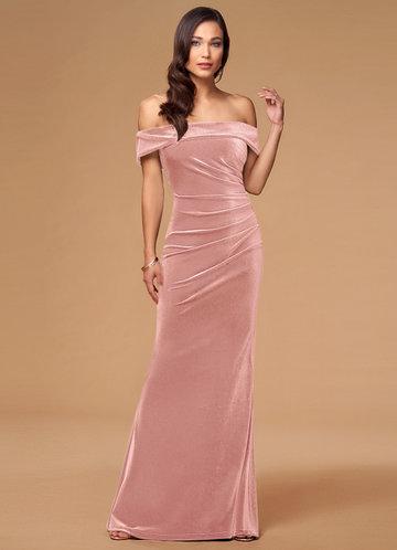 front_Blush Mark Sweet Thing {Color} Velvet Maxi Dress