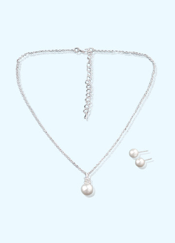 front_Pearl Drop Jewelry Set