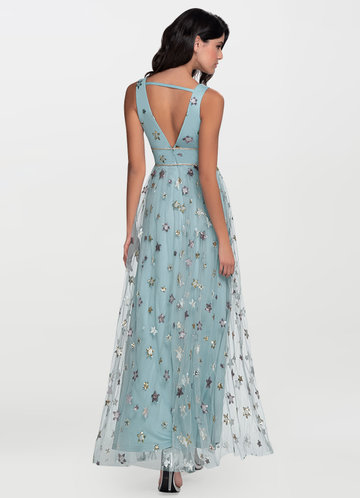back_Kiss Of Stars {Color} Embroidery Maxi Dress