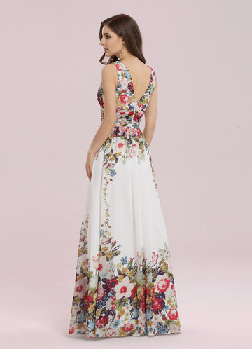 back_EVER-PRETTY Double V Neck Floral Print Prom Dress