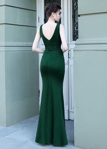 back_Kalinnu Ruffle Trim Thigh Split Maxi Dress