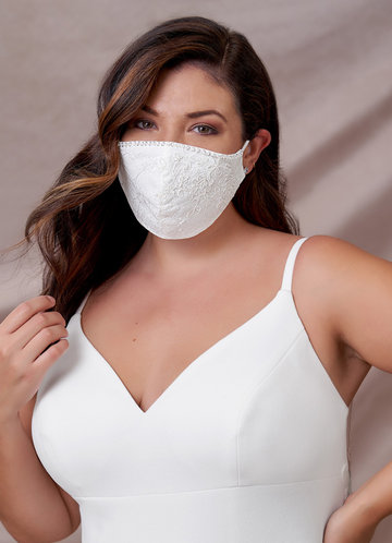 back_Azazie Non-Medical Lace Reusable Face Mask With Beading