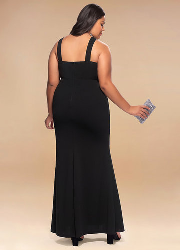 back_Blush Mark Plus Size Darling Stretch Crepe Maxi Dress