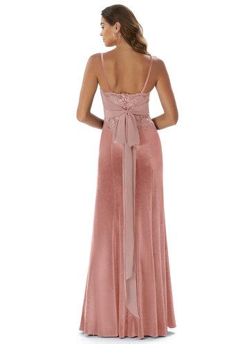 back_Azazie Sasha Velvet Dress