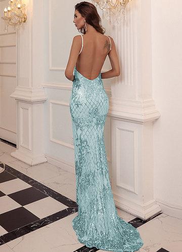 back_Missord Foil Print Backless Maxi Dress