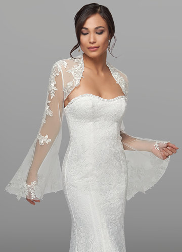 front_Azazie Haggith Lace Tulle Wrap