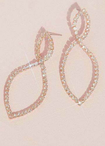 front_Infinity Loop Rhinestone Earrings