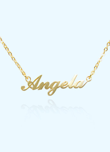 front_Modern Personalized Name Necklace