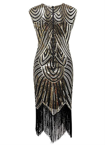 back_Blush Mark 1920s Sequin Beaded Tassels Hem Latin Dance Banquet Flapper Dress