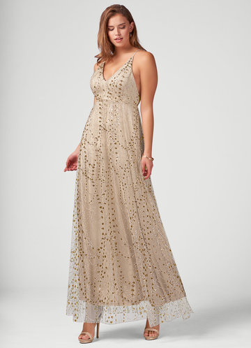 My Beloved Champagne Maxi Dress