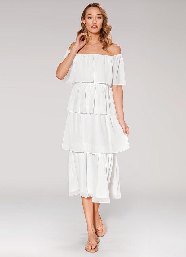 White Midi Dress Dresses   Azazie