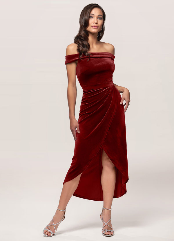 Sweet Desire Black Velvet Midi Dress Dress | Azazie