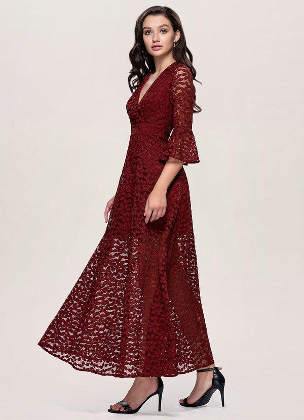 Dusk Burgundy Maxi Dress Dresses Azazie