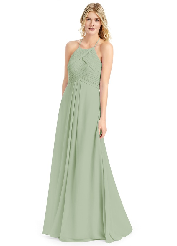 a5e946e56f4 Azazie Ginger Bridesmaid Dress - Dusty Sage