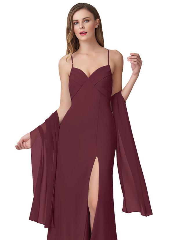 shawl for bridesmaid Brown chiffon shawl for the wedding