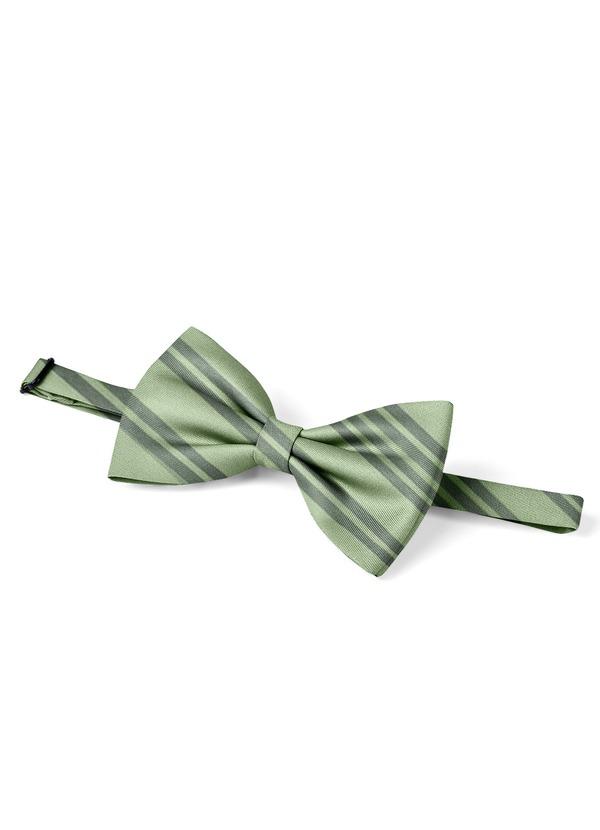 Gentlemen's Collection Men's pre-tied Stripes bow tie