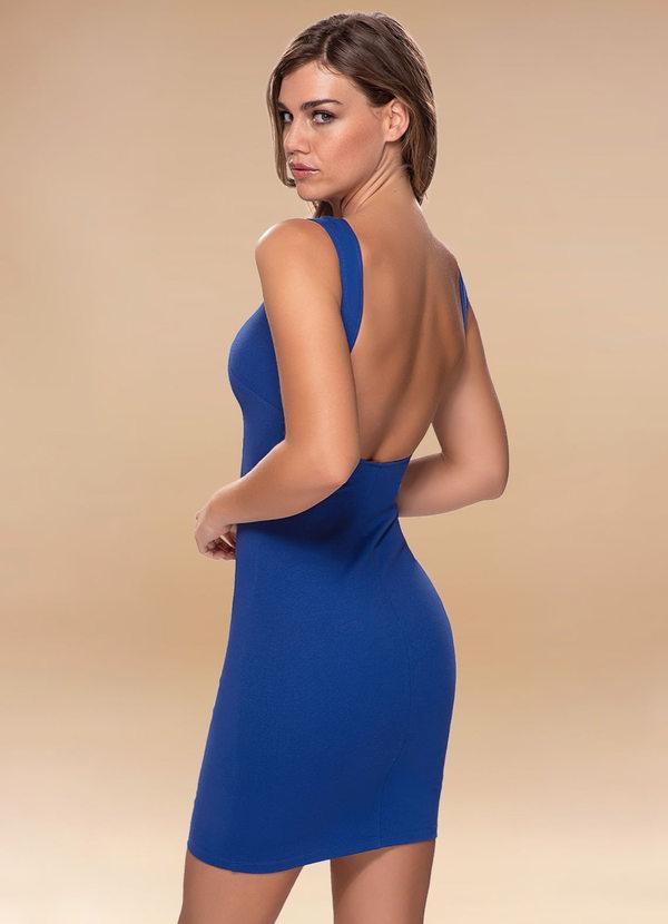 Royal Blue Open Back Midi Dress Dresses