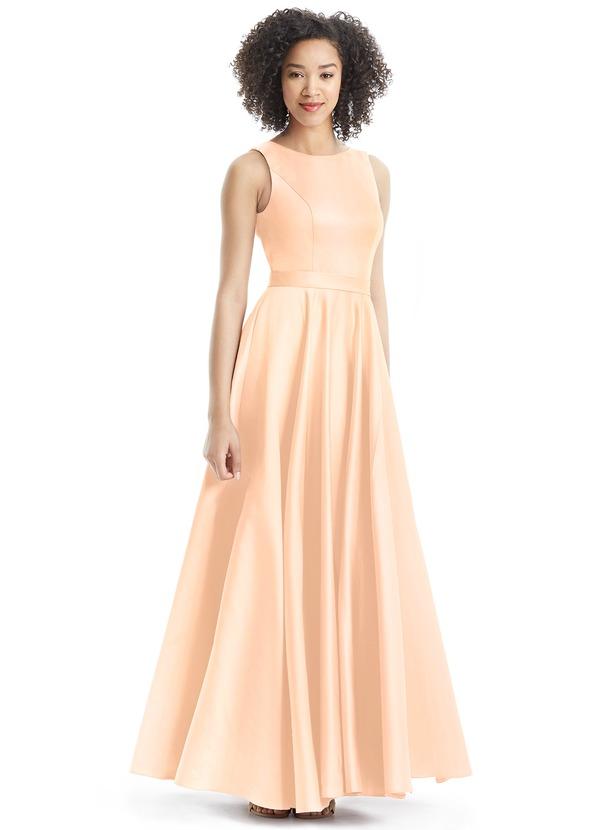 Azazie Jakayla Bridesmaid Dress - Coral | Azazie