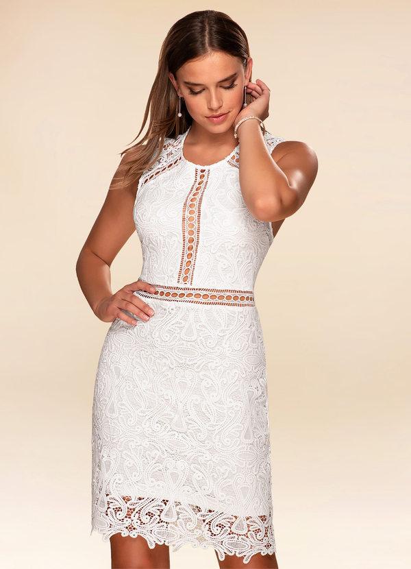 Day Dreamer White Lace Bodycon Dress Dress Azazie
