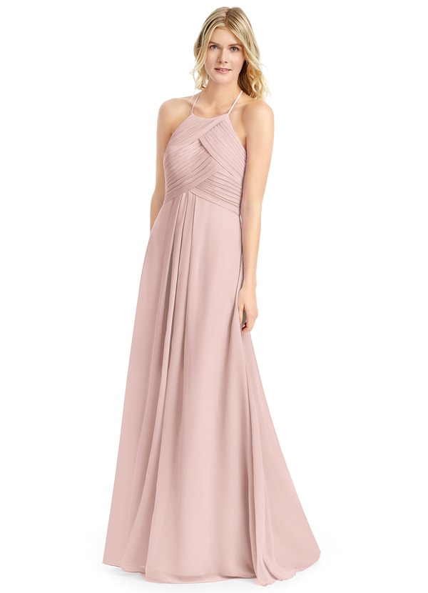 74a64e27e17 Azazie Ginger Bridesmaid Dress - Dusty Rose