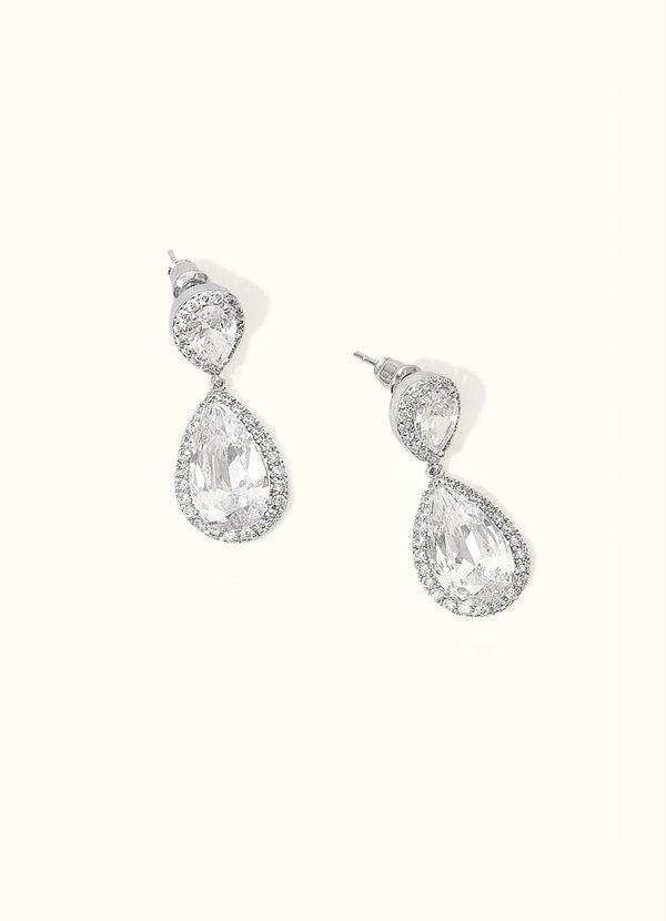 Stunning Silver Teardrop Earrings Jewelry | Azazie