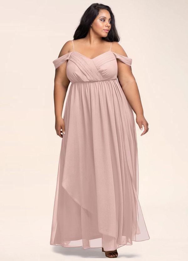 Philosophy Of Love Dusty Rose Maxi Dress Dresses   Azazie