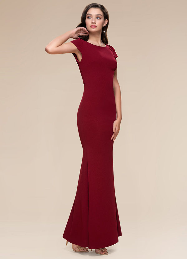Pure Beauty {Color} Stretch Crepe Maxi Dress