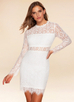 Fall in Love {Color} Lace Long Sleeve Dress