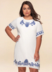 Monaco Embroidered {Color} Shift Dress