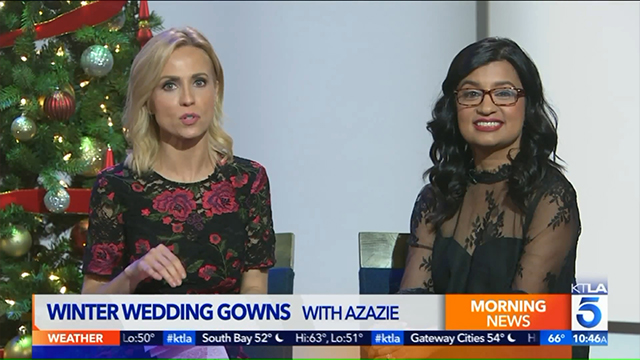 Winter Wedding Gowns With Azazie | KTLA