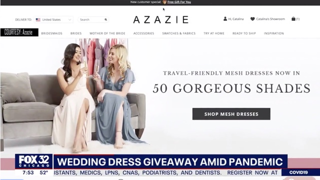 Azazie Helping Brides Affected by Pandemic