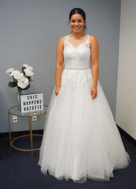 Azazie Winnie BG Wedding Dress   Azazie