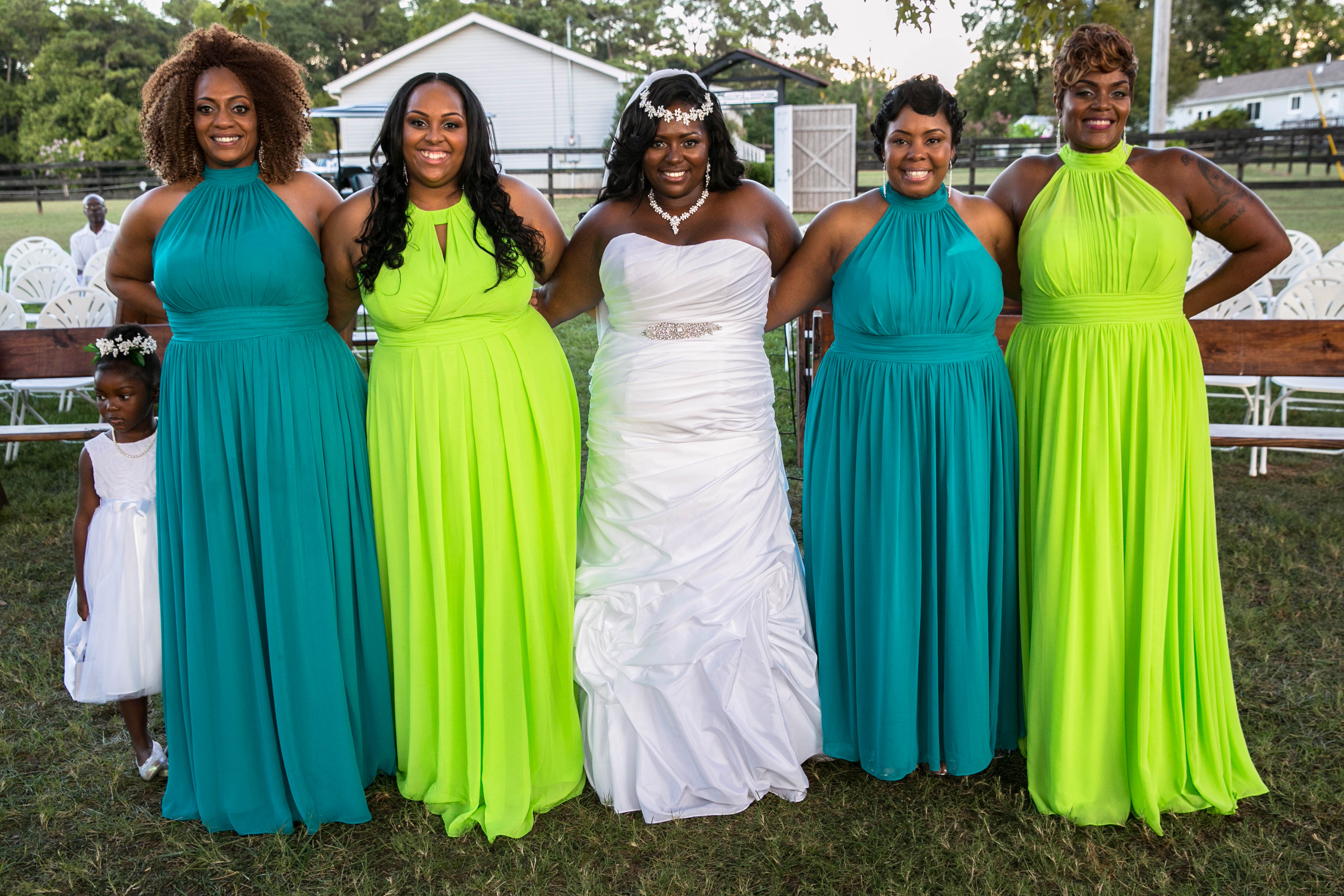 Chocolate and Sage Color Dresses