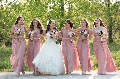 c1697755b96 Azazie Leanna Bridesmaid Dress - Dusty Rose